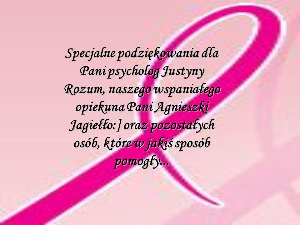 Specjalne podziękowania dla Pani psycholog Justyny Rozum, naszego wspaniałego opiekuna Pani Agnieszki Jagiełło:] oraz pozostałych osób, które w jakiś sposób pomogły...